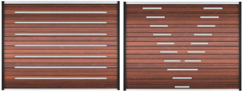 Откатные ворота из сэндвич-панели премиум класса  под ключ - дизайн